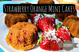 Strawberry Orange Mini Cakes