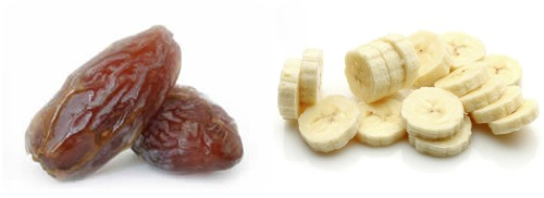 dates and bananas