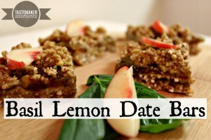 Basil Lemon Date Bars