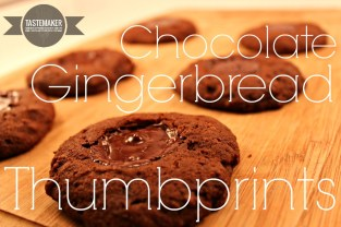 Chocolate Gingerbread Thumbprints