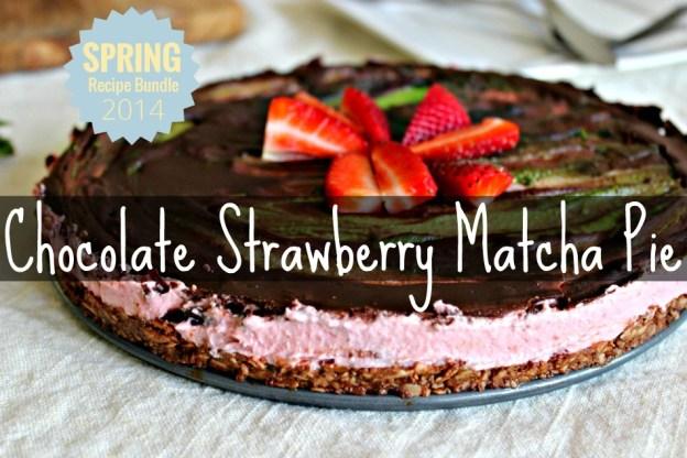 Chocolate Strawberry Matcha Pie