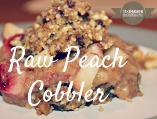 Raw Peach Cobbler