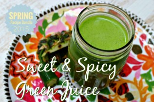 Sweet and Spicy Green Juice.