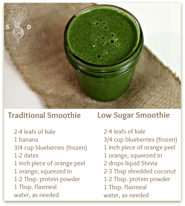 low sugar smoothie with stevia3