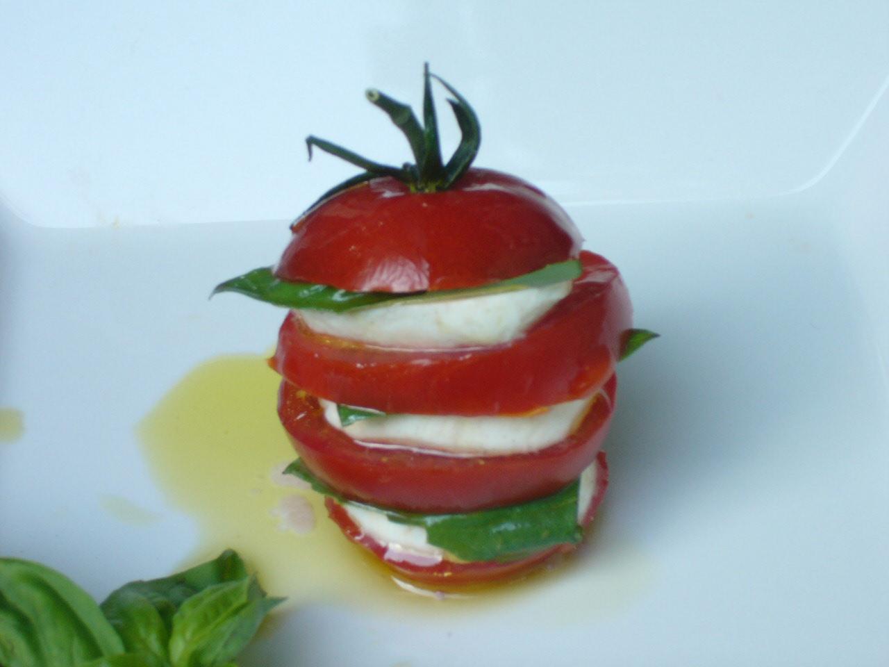'Stacked' Caprese Salad