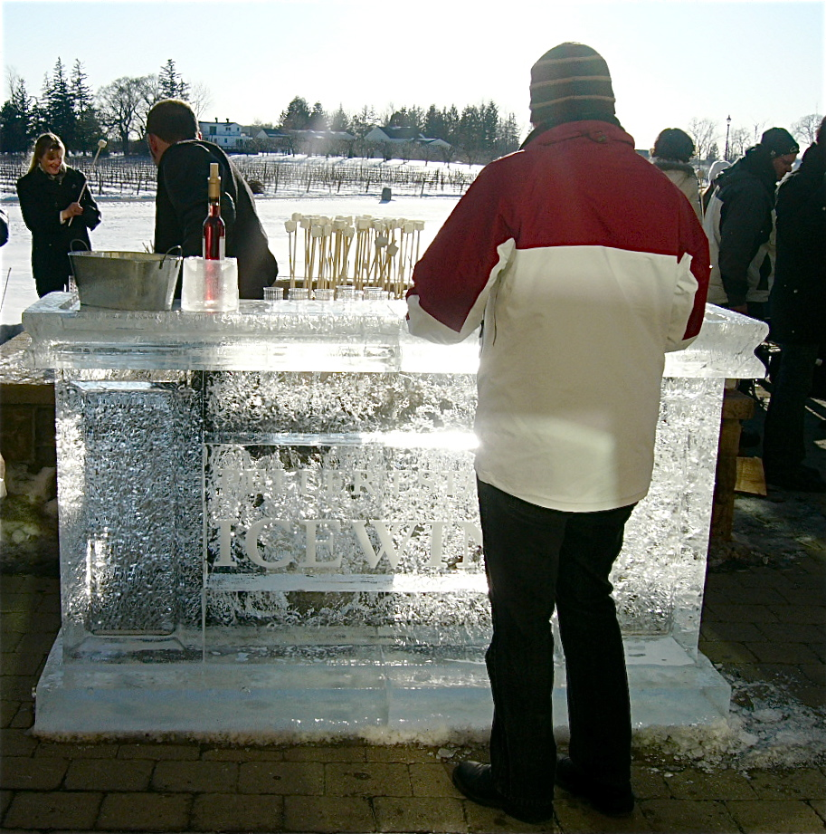 An outdoor ice bar