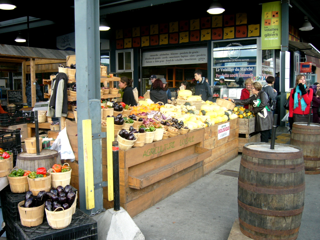 A farmer's market featuring local produce