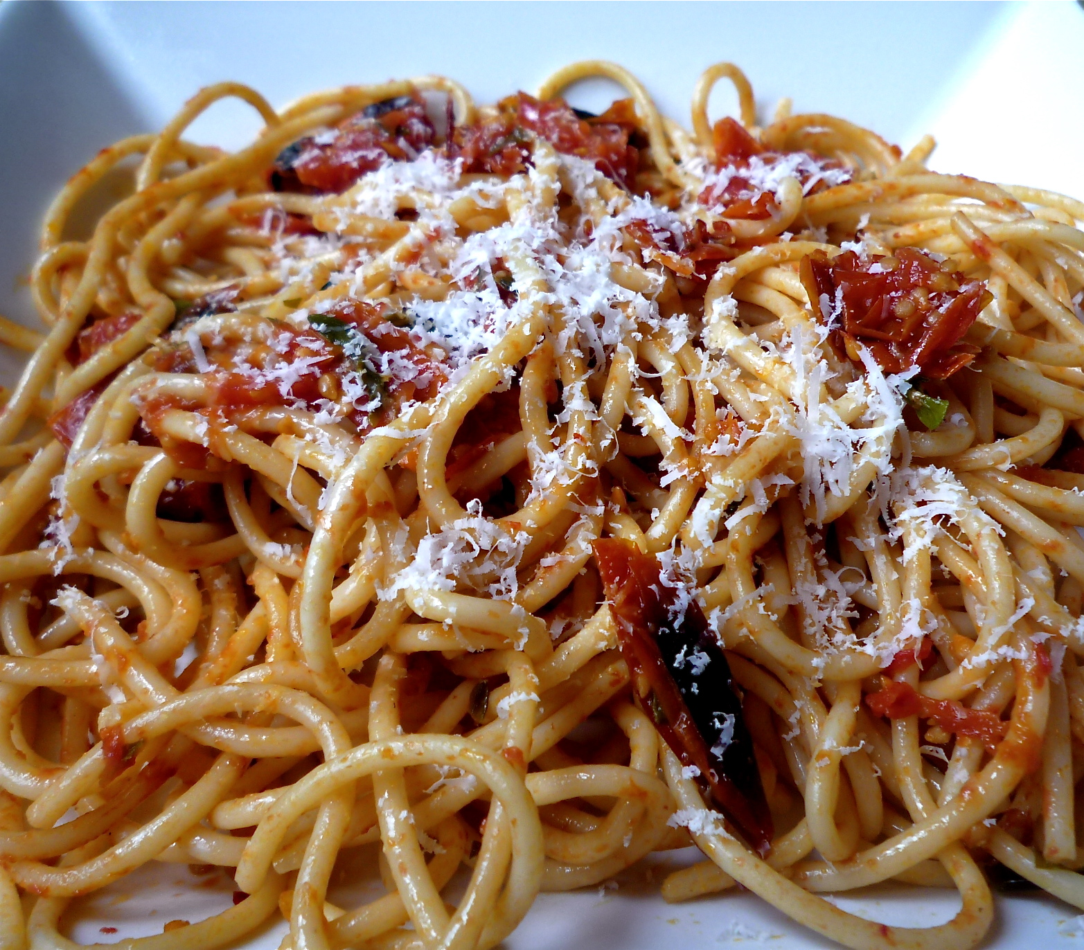 Roasted Cherry Tomato Spaghetti