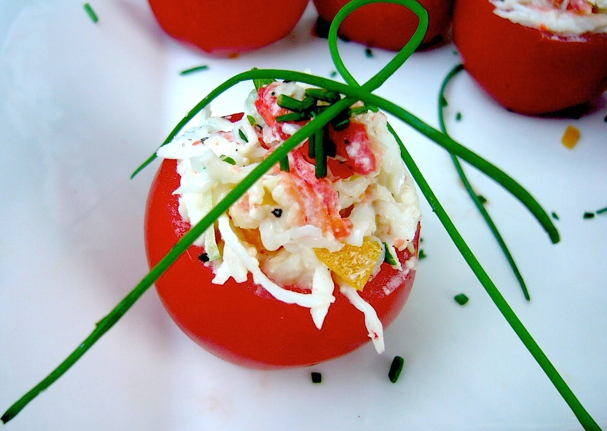 Crab and Avocado Stuffed Tomatoes