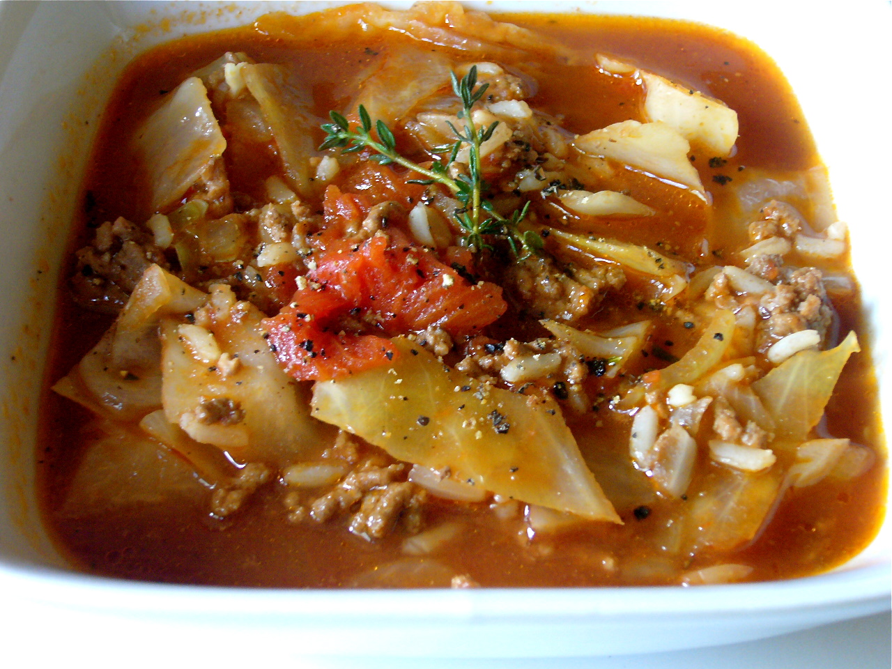 Cabbage Roll Soup - it's not too pretty to look at but it's delicious, filling and budget-friendly.