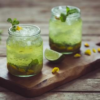 Gorse Flower and Raw Honey Mojito -- Seasonal Food   https://theseasonaltable.co.uk/drinks/gorse-flower-and-raw-honey-mojito/