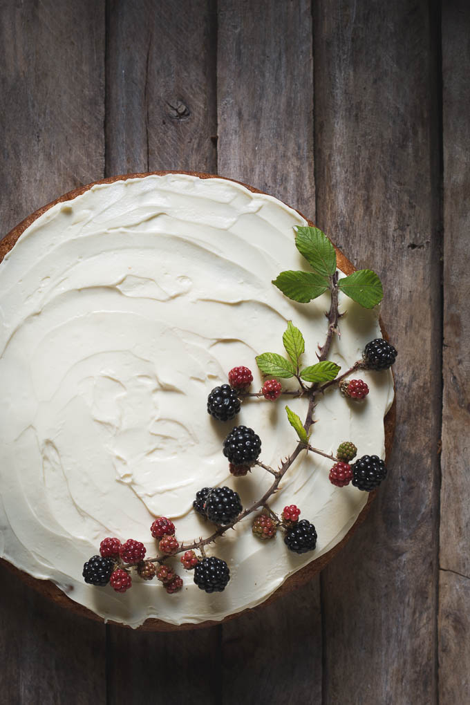 Wild Blackberry and Rosewater Cake -- Seasonal food UK | https://theseasonaltable.co.uk/sweet/wild-blackberry-and-rosewater-cake/