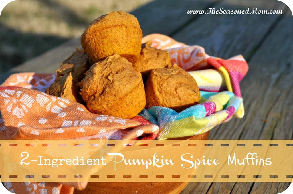 Mini Pumpkin Muffins With Spice Cake Mix