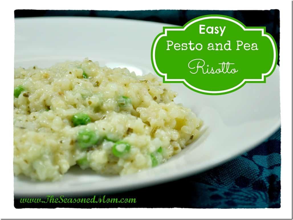 Easy Pesto and Pea Risotto