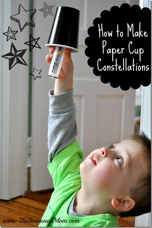 How to make paper cup constellations