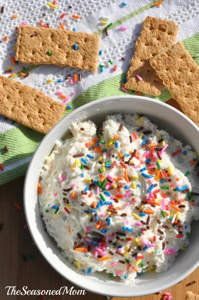 Lightened Up Funfetti Cake Batter Dip