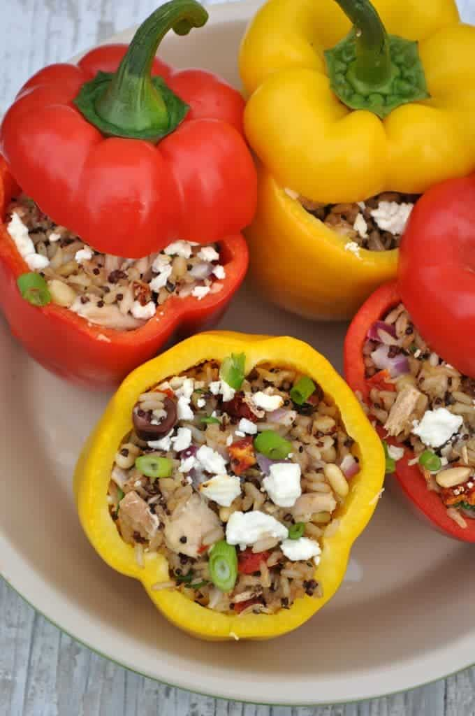 Sicilian Quinoa and Tuna Stuffed Peppers 2