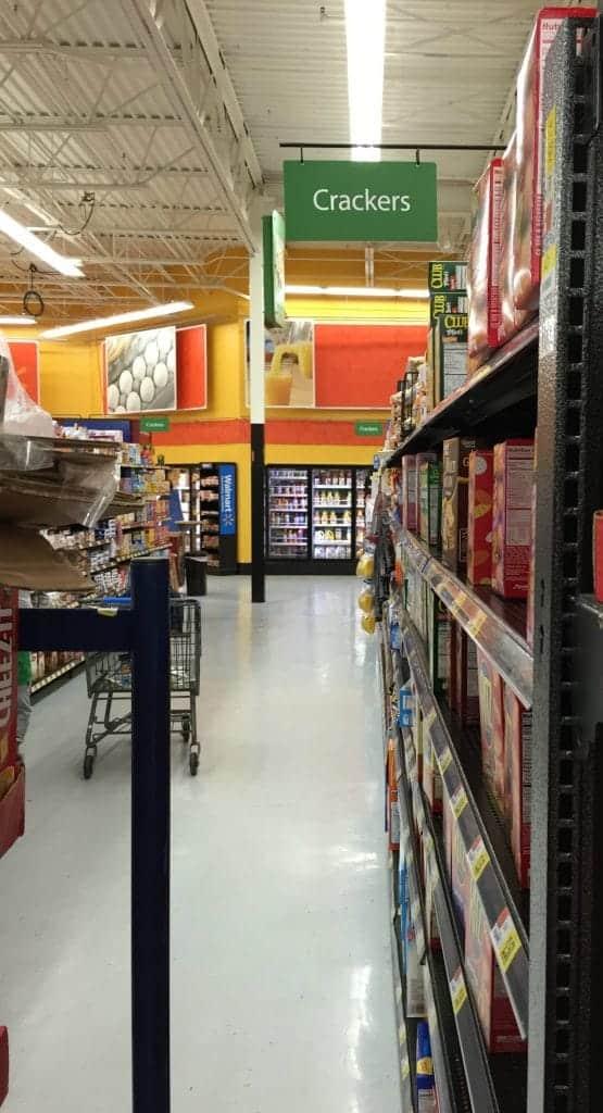 Walmart Cracker Aisle