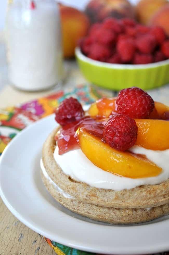 Healthy Peach Melba Breakfast Shortcakes 6