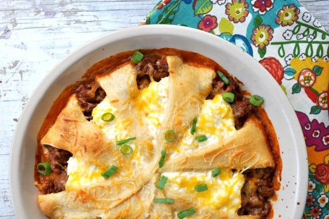 Lightened Up Taco Crescent Casserole 3