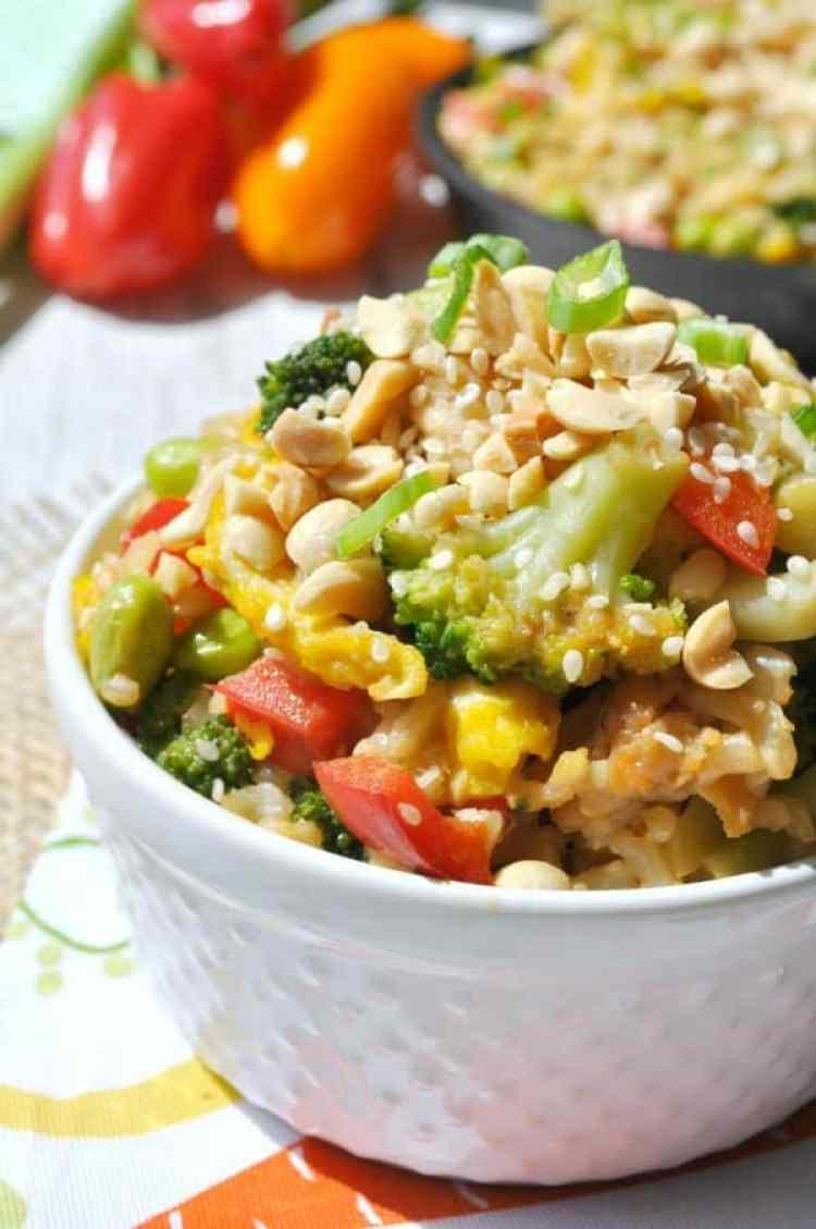 Thai Peanut Chicken Fried Rice 8