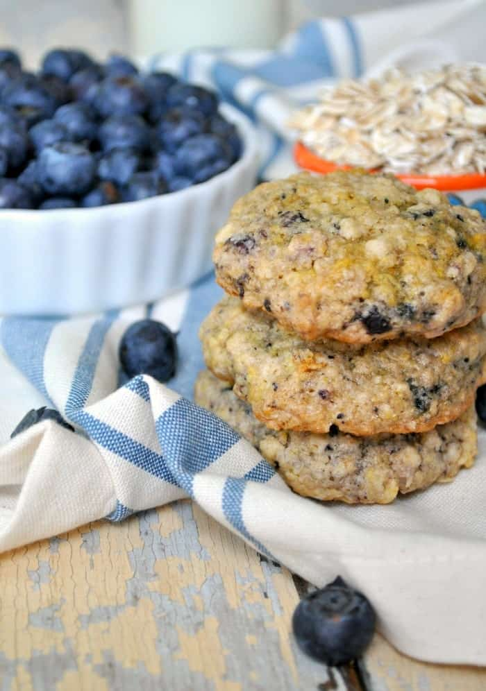 Blueberry Muffin Oatmeal Cookies 6