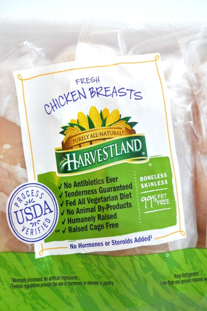 Harvestland Chicken Label