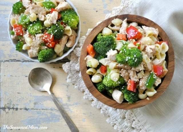Sesame Chicken Pasta Salad 9