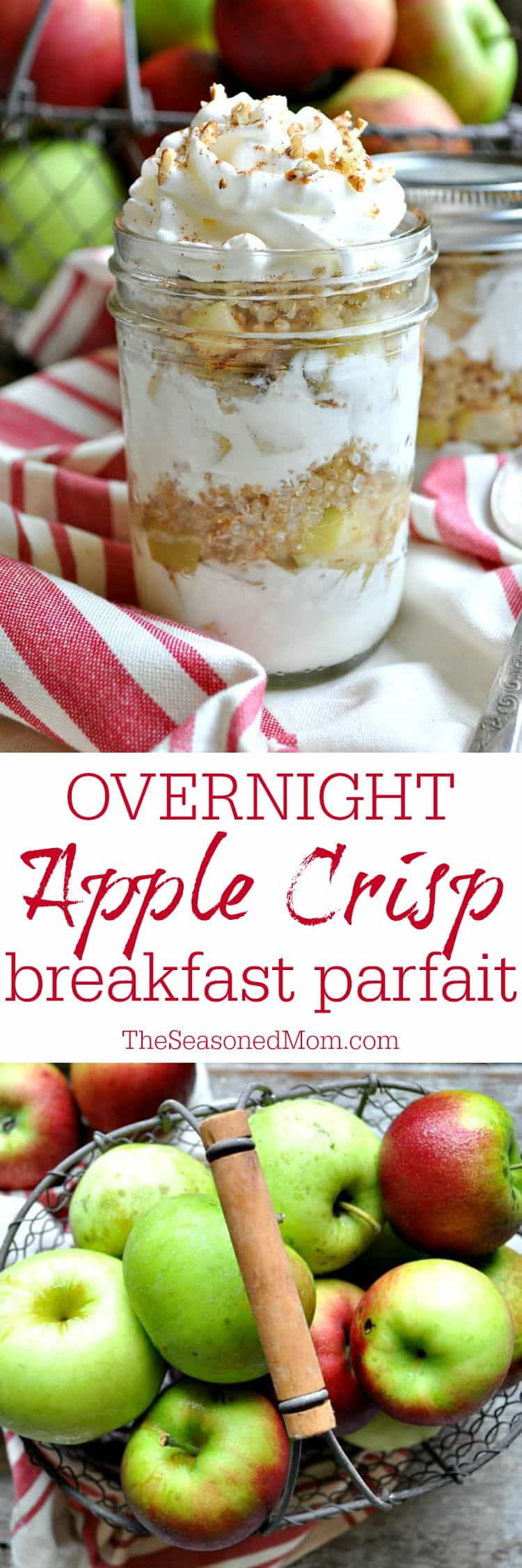 Overnight Apple Crisp Breakfast Parfait