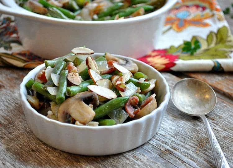 Green Bean Casserole with Bacon and Mushrooms 9
