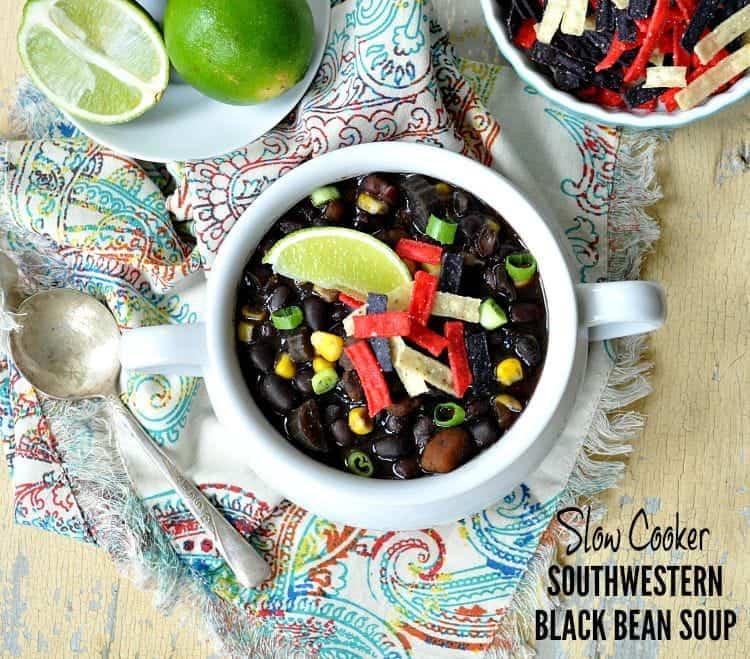 Slow Cooker Southwestern Black Bean Soup TEXT