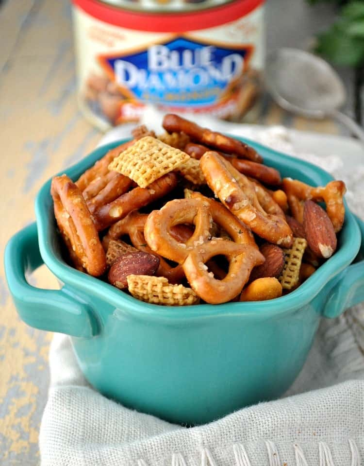 Slow Cooker Mesquite Smokehouse Snack Mix 5
