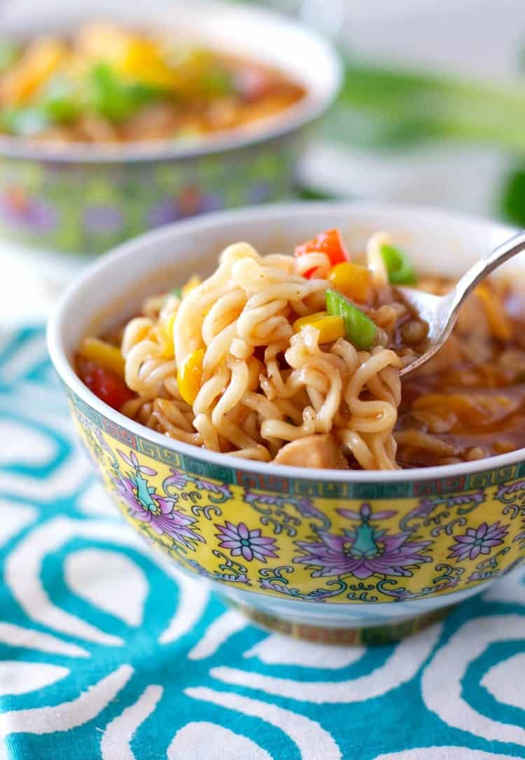 Barbecue Chicken Ramen Noodle Bowls 10
