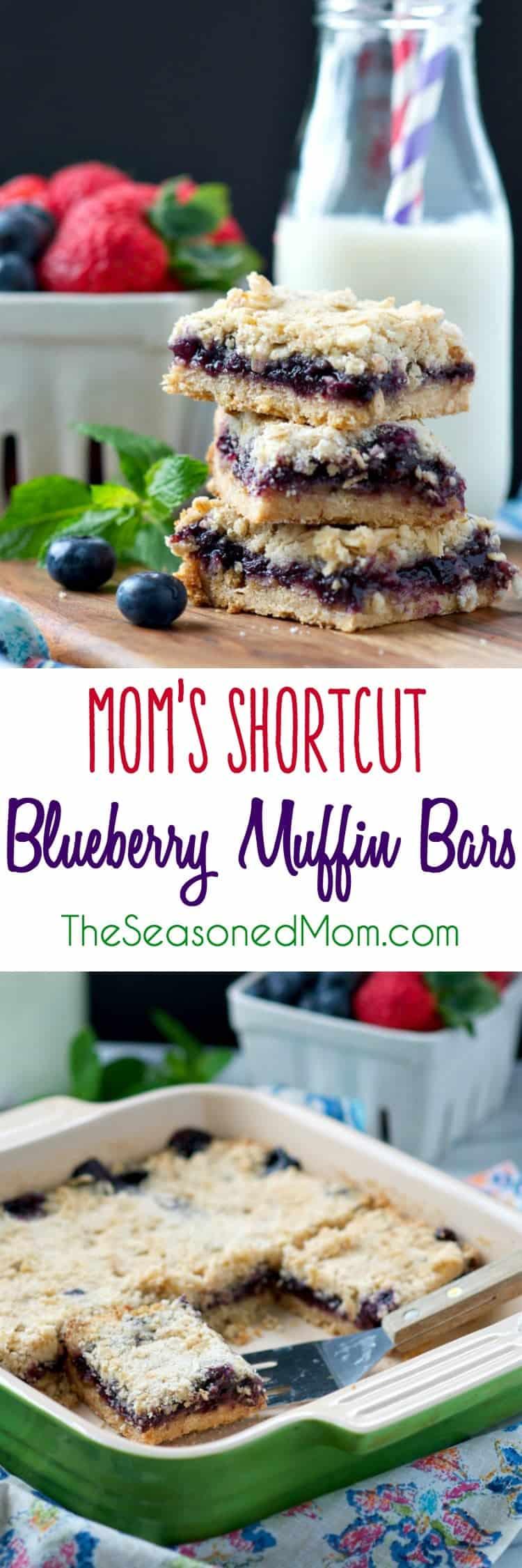 Mom's Shortcut Blueberry Muffin Bars - The Seasoned Mom