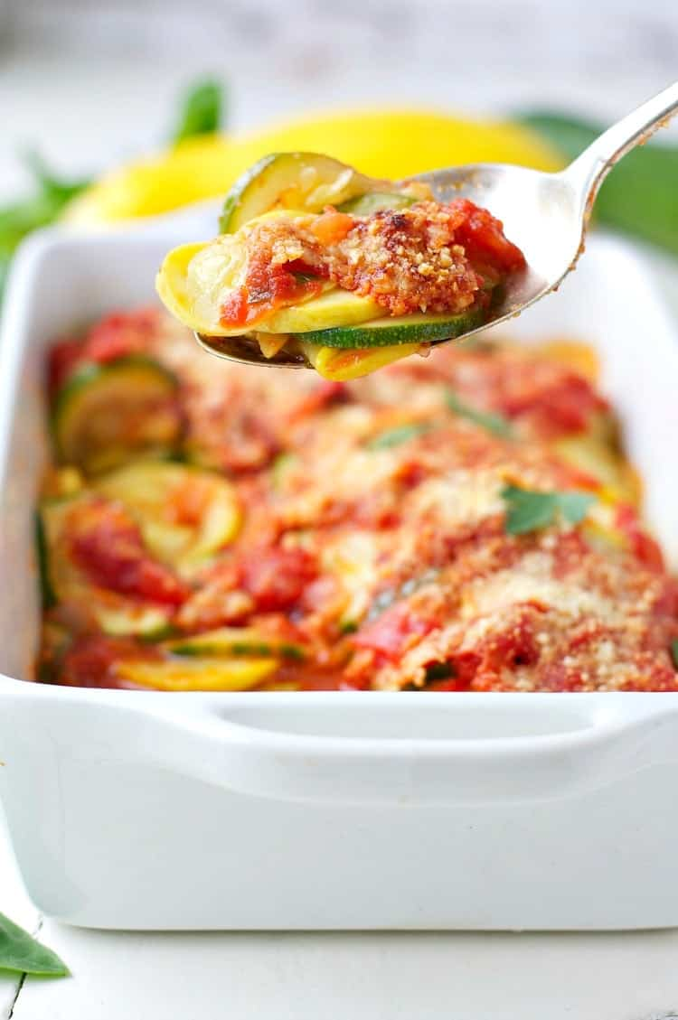 Easy Zucchini and Summer Squash Gratin 8