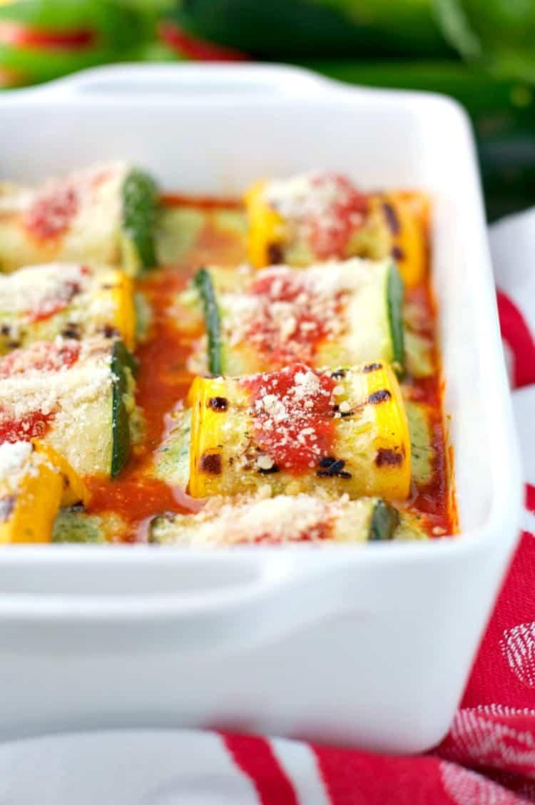 Pesto Zucchini Lasagna Roll Ups 4
