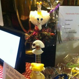 Peg dolls at the refectory table