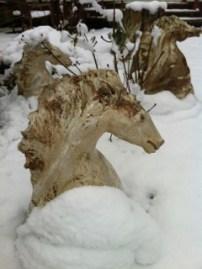 Stoneware horses winter 2013