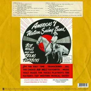 bob wills back cover