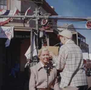 Doris Day Calamity Jane makeup WB Backlot 1953