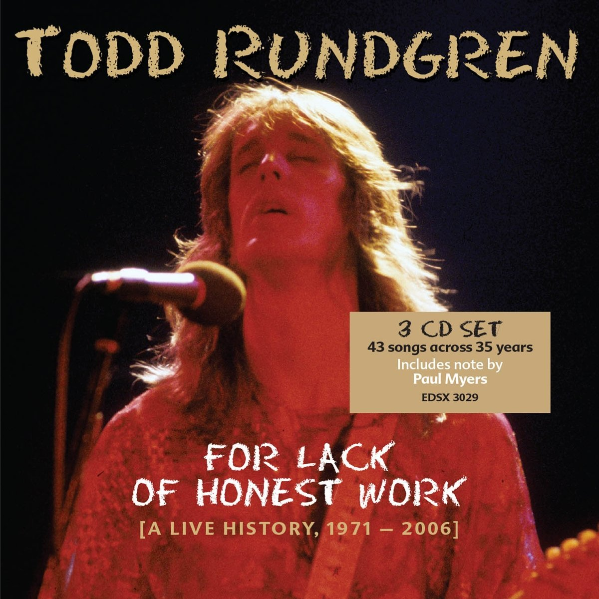 "Bang The Drum All Day: Edsel Reissues Todd Rundgren's ""For"