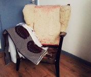 TheSecretCostumier - Reupholstered wingback chair before