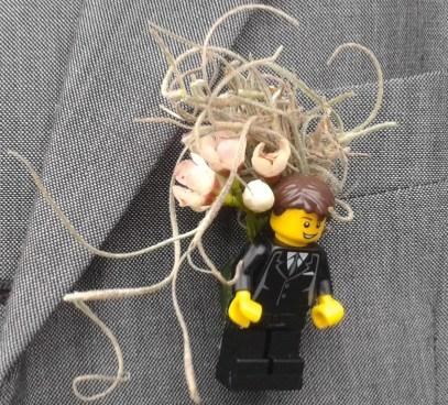 Lego Groom Buttonhole