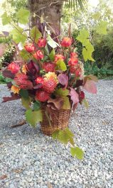 Autumn Flower Basket Arrangement