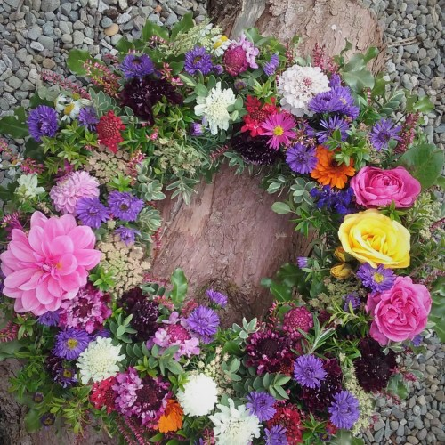 Natural summer wreath
