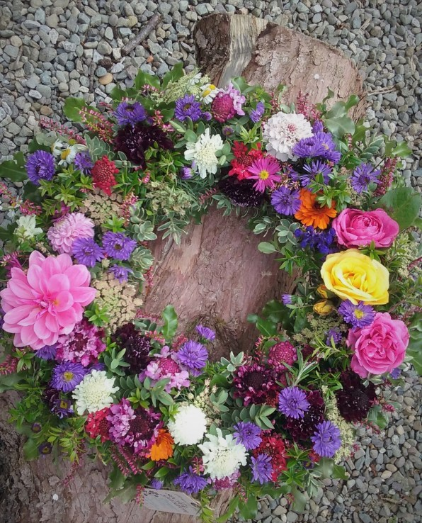 Natural summer wreath