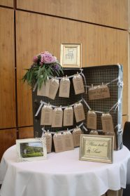 Vintage Suitcase Table Plan Castlemartyr
