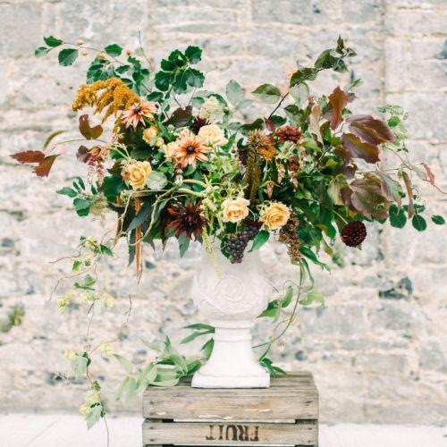 Autumn Flowers Urn