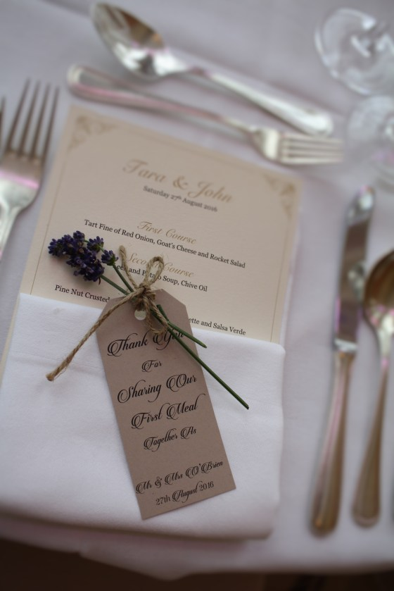 Lavender Place Setting Castlemartyr