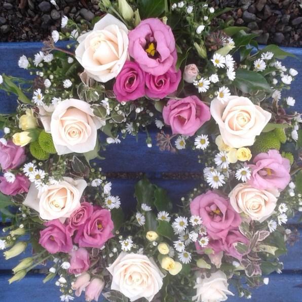 Pink Rose & Daisy Wreath